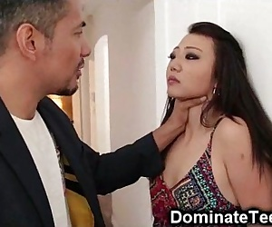 Asian Teen Gets Rough..
