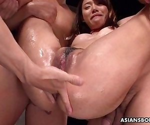 Asian bitch has a threesome that is bdsm infected - 8 min