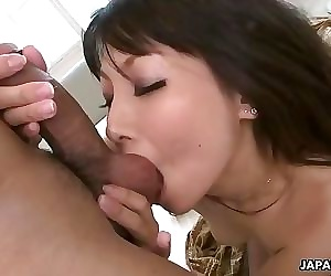 Japanes MILF in stockings gets fucked raw
