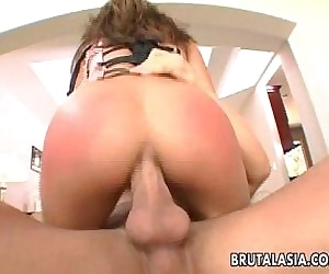 Super hot bitch bounces on top of a cock - 8 min